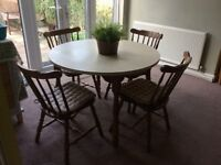 Farmhouse Table and 4 Chairs with Cushions for sale £150