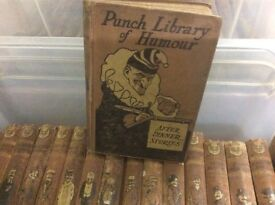 Collection of old punch books