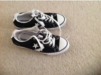 Black Converse Trainers Size 3
