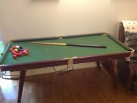 Riley snooker table 6ft by 3 ft
