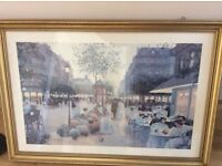 """Gold framed picture 39.5 x 27.5"""""""