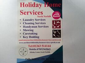Holiday home services north Norfolk. Laundry,cleaning,maintence,caretaking,key holding.