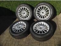 """Jaguar 17"""" Libra Wheels & Pirelli Tyres (NEVER BEEN USED)"""