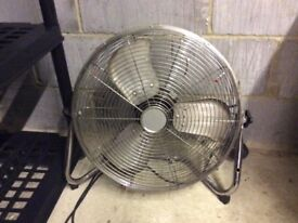 Large Brushed Steel Fan with 3 settings