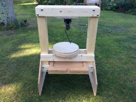 Wooden large cider press