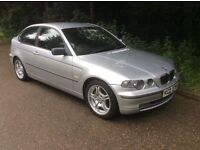 2002 BMW 325i COMPACT * M.O.T TO JANUARY 2017 * LEATHER INTERIOR *