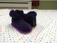 Celtic sheepskin girls slippers