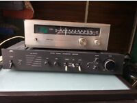 jvc stereo amp & rotel stereo reciever.