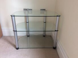 Glass and chrome TV / stereo unit