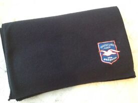 Discrete Brighton and Hove Albion football scarf, new.