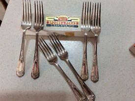 Hiram Wild Silver plated dessert forks