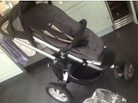 Quinny travel system pushchair plus carrycot raincover