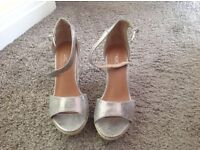 Next Size 3 Silver Wedges