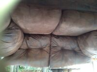 Pretty Bison Brown fabric two-seater sofa
