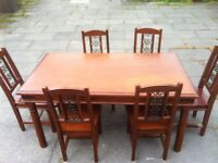 Mexican Pine Dining Table And 6 Chairs farmhouse (shabby chic project)