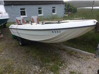 Fishing Boat/ Pleasure Boat - Angelo Molinari 410 plus Trailer