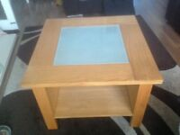 Wooden Glass topped coffee table