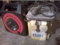 110v 3.3kva transformer twin output comes with 20 metre extension reel