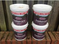 Timber care, Red Cedar wood protection 4 X 6 litre tubs