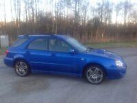 2005/55 Subaru Impreza Wrx Wagon Blue Mot 22/08/2018
