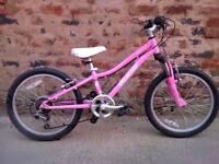 Specialized hotrock girls bike suit 5-9yrs 20inch wheel