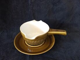 Vintage Denby / Langley Patrician Tureen with lid & gravy boat