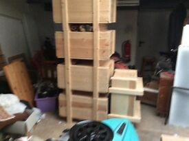 Pine boxes/planters