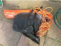 Flymo 1500 garden vac/leaf blower electric