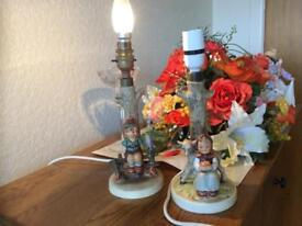 Two Hummel lamps