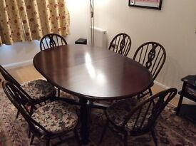 Ercol Extending Dining Table & 6 Chairs