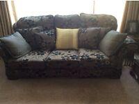 Black & Brown three piece sofa