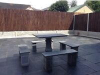 Garden Marble table + 4 chairs