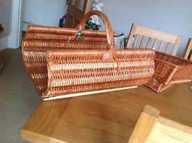 Log basket for fireside
