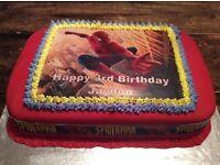 Homemade celebration cakes