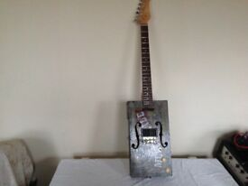 FOR SALE 6 STRING CIGAR BOX GUITAR