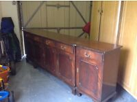 Antique sideboard with 5 drawers