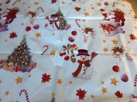 Christmas vinyl tablecloth