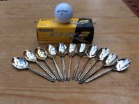 Golf balls and spoons