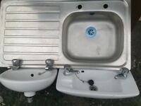 Cloakroom hand basins/ sinkunit