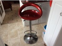 Red kitchen stool