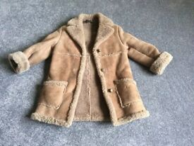 Gorgeous Vintage Real Sheepskin Child's Coat Age approx. 5 Years