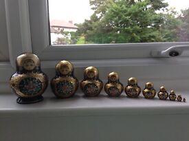 *** Reduced Price *** Rare Tradional Matryoshika Russian Folk Art Nesting Dolls