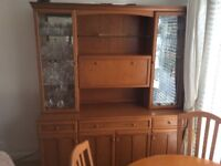 Display cabinet and dining table 4 chairs bought from furniture village