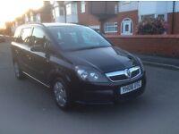 2006 Vauxhall zafira 1.6 ,5dr estate petrol manual 1 owner 7 seater black colour full history £1695