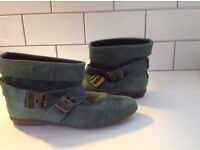 ANKLE BOOTS -GREEN