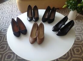 9 Pairs of ladies shoes.