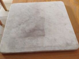 """Marble square ideal for making pastry on, 15"""" square, rounded edges."""