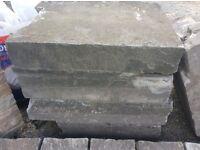 Reclaimed stone effect steps/slabs