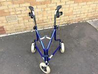 Tri walker mobility aid (three wheeled)