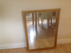 Bamboo mirror, good condition size 22 inch wide by 30inch drop.